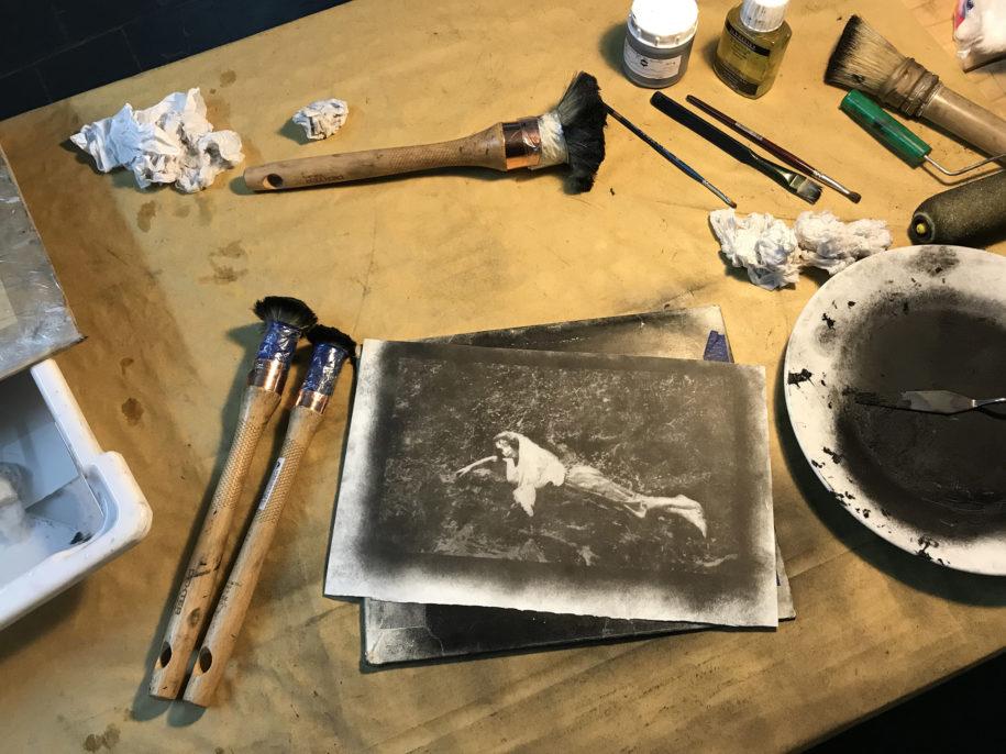 """Francisco Medail, """"Ottorino D'Acierno c.1922"""" (proceso de trabajo II). Cortesía del artista"""